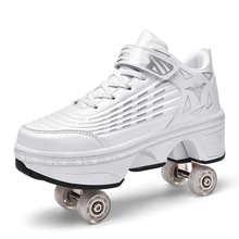 2021 Новый ParentChild деформации роликовые коньки обувь Для женщин мужские туфли для паркура четырехколесных транспортных средств для детей