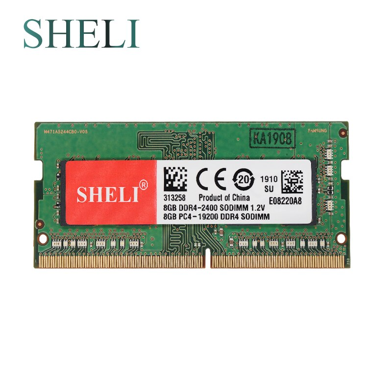 SHELI New Notebooks Memory 8GB 1RX8 PC4-19200S DDR4 2400MHZ 1.2V  SO-DIMM CL17 Laptop Memory