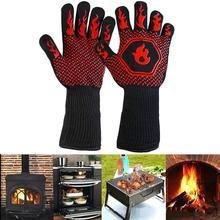 Перчатки для барбекю с защитой от ожогов, термостойкие перчатки для барбекю и духовки, кухонные огнестойкие перчатки, противоскользящие перчатки для готовки выпечки