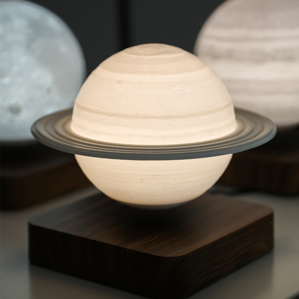 Night Lamp Creative 3D Magnetic Levitation Moon Lamp Night Light Rotating Led Moon Floating Table Lamp Home Decoration Holiday enlarge