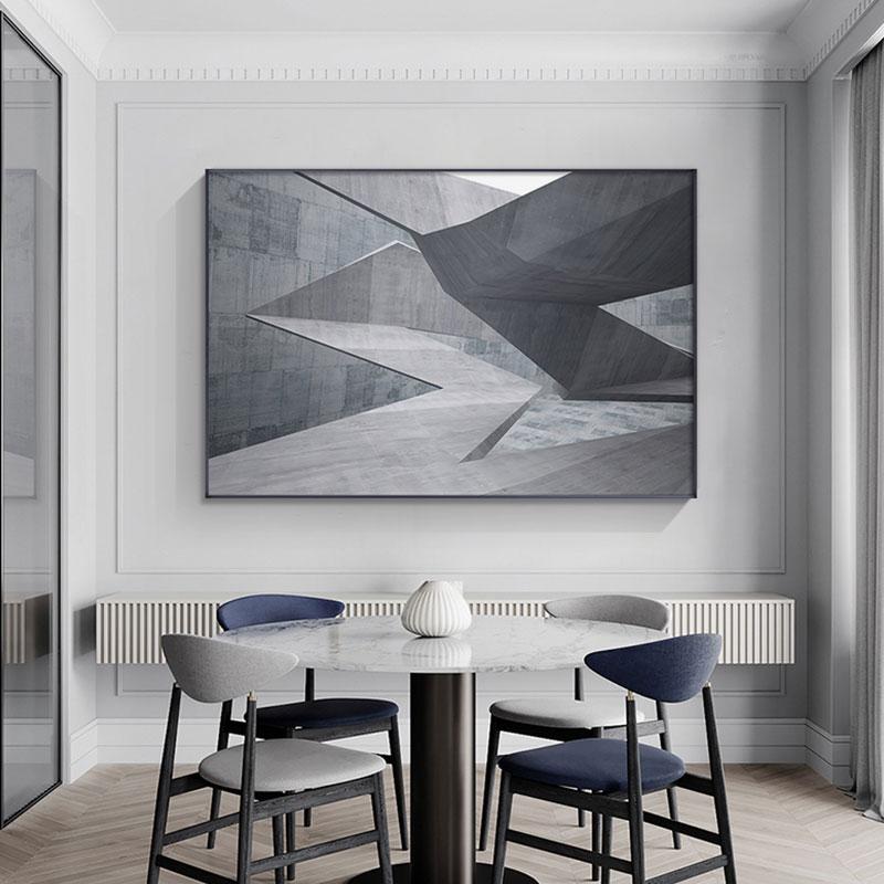 Estilo industrial moderno poster dobrável espaço com escadas pintura fotos de parede para sala estar quarto corredor casa deco