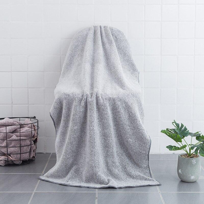 Sugan Life NEW Size 70x150cm bamboo carbon fiber bath towel absorbent coral fleece adult children bathrobe Free shipping