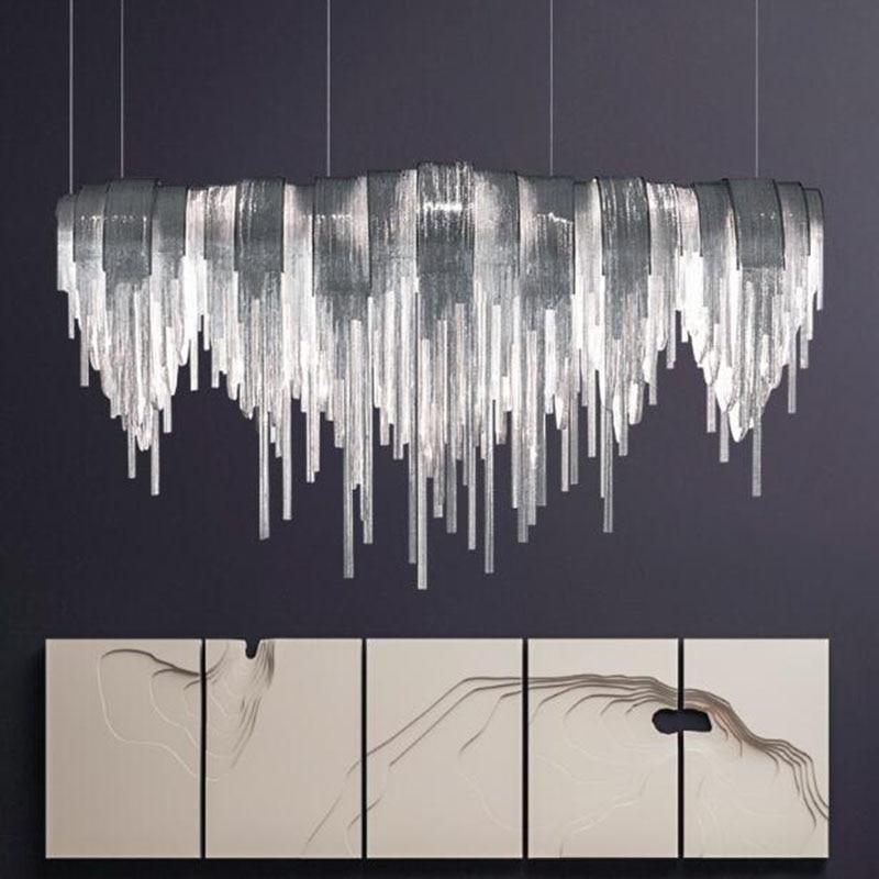 Manggic-مصباح سقف معلق LED فاخر ، تصميم إبداعي ، إضاءة داخلية ، إضاءة سقف مزخرفة ، مثالية لغرفة المعيشة ، الفندق ، المقهى ، فضي ، ذهبي ، ألومنيوم