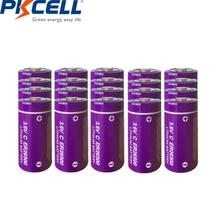 20Pcs/PKCELL 3.6V C size Lithium Battery ER26500 9000Mah Li-SOCl2 Battery