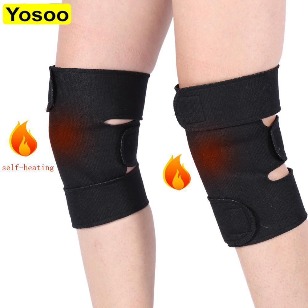 1 par de rodilleras de turmalina autocalentantes terapia magnética rodillera alivio de dolor para la artritis soporte para rótula almohadillas mangas de rodilla