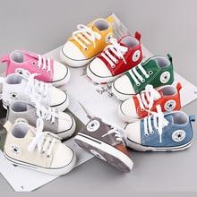 Bébé toile enfant en bas âge chaussures Sport décontracté baskets nouveau-né enfant en bas âge chaussures anti-dérapant semelle impression étoile premiers marcheurs berceau chaussures chaussure bebe garcon chaussure bé