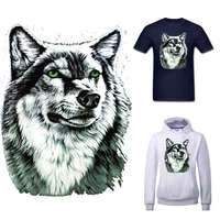 applique wolf iron on transfers for clothing stickers thermoadhesive patches diy animal patch pvc flex fusible transfer stripe