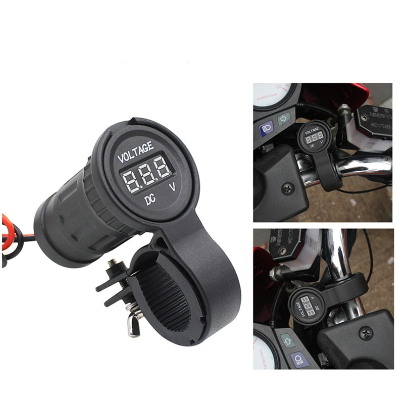 12V24V мотоциклетный кран с ручкой водонепроницаемый вольтметр автомобильный источник питания индикатор напряжения светодиодный адаптер с ц...