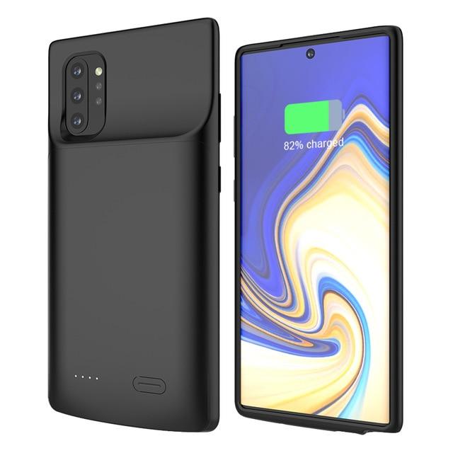 جراب شاحن بطارية محمول مضاد للسقوط لهاتف Samsung Galaxy Note ، غطاء خلفي مقاوم للسقوط لهاتف Samsung Galaxy Note 10 Plus ، 5G ، 6000 h