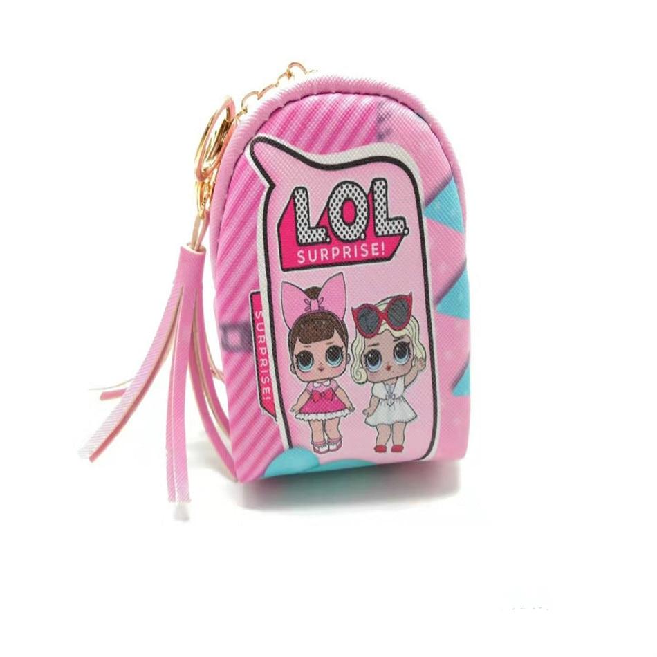 2020lol surpresa boneca nova escola bolsa moeda dos desenhos animados surpresa boneca crianças carteira caso chave de dados cabo saco armazenamento meninas brinquedos