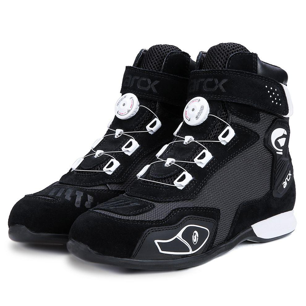 ARCX الرجال دراجة نارية الأحذية حذاء سباق أسود الرياضة حذاء رياضة الجري ركوب الأحذية الصيف تنفس/موتوكروس اكسسوارات