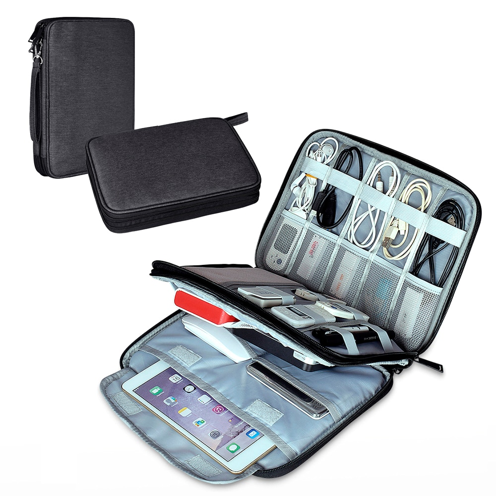 Tablet Bag Organizer Travel Storage Case for iPad 3 / Pro 9.7 2017 / Mini 4 / Air 2 10.5 / Mi Pad 4 for Samsung Tab A 10.5