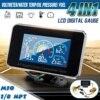 4 w 1 LCD samochód cyfrowy budzik miernik ciśnienia woltomierz Volt temperatura wody ciśnienie oleju wskaźnik paliwa czujnik temperatury 12 v/24 v