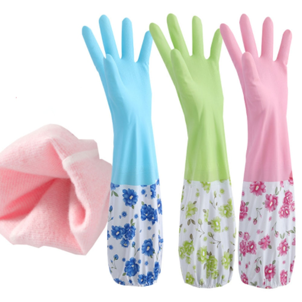 Dishwashing Gloves Dishwashing Rubbe Gloves Waterproof Warm Cleaning Housework gloves Household Cleaning Kitchen Supplies enlarge