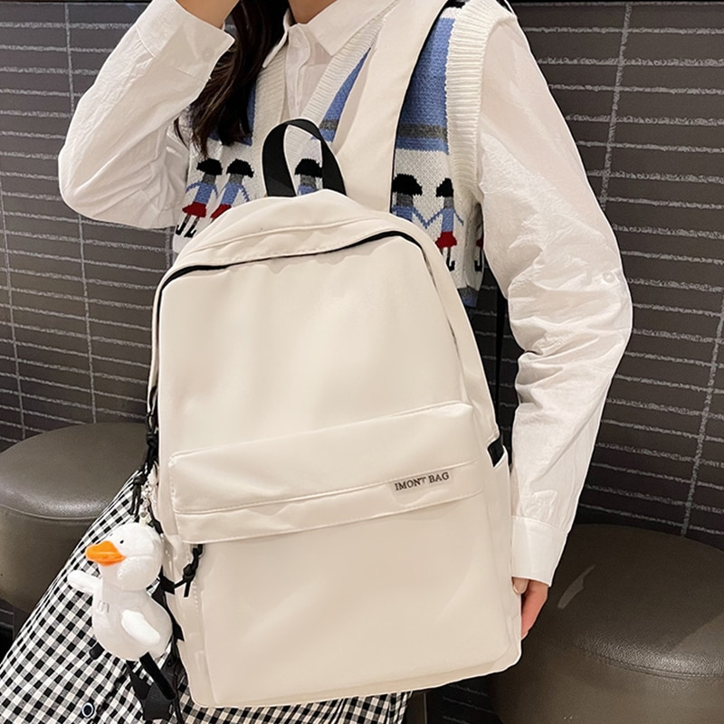 школьные рюкзаки thorka школьный рюкзак mc neill ergo light plus милашка 4 предмета Однотонные простые школьные рюкзаки EST, Женский Школьный рюкзак, школьный женский нейлоновый рюкзак для девушек, повседневный рюкзак для ко...