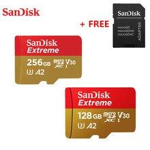 Originale SanDisk Estremo Ultra Micro SD Card da 256GB 128GB A2 V30 U3 Flash Card Microsd SDHC SDXC 160 m/S per Smartphone Fotocamera