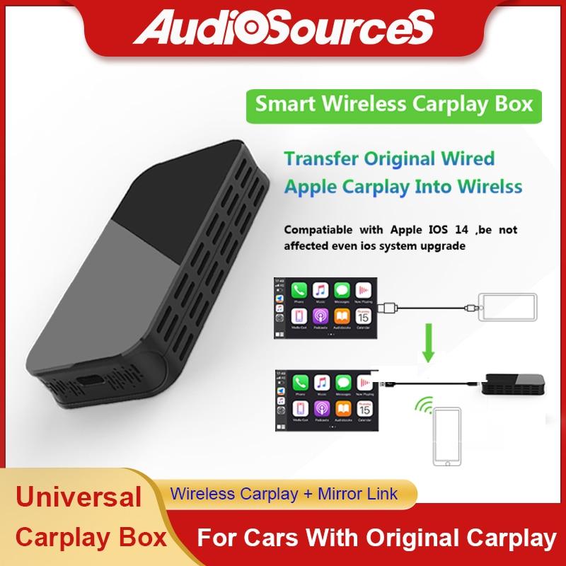 Get wireless Carplay box with Mirror link USB video Apple Carplay Plug and Play carplay ai box for Audi VW Ford Hyundai Skoda