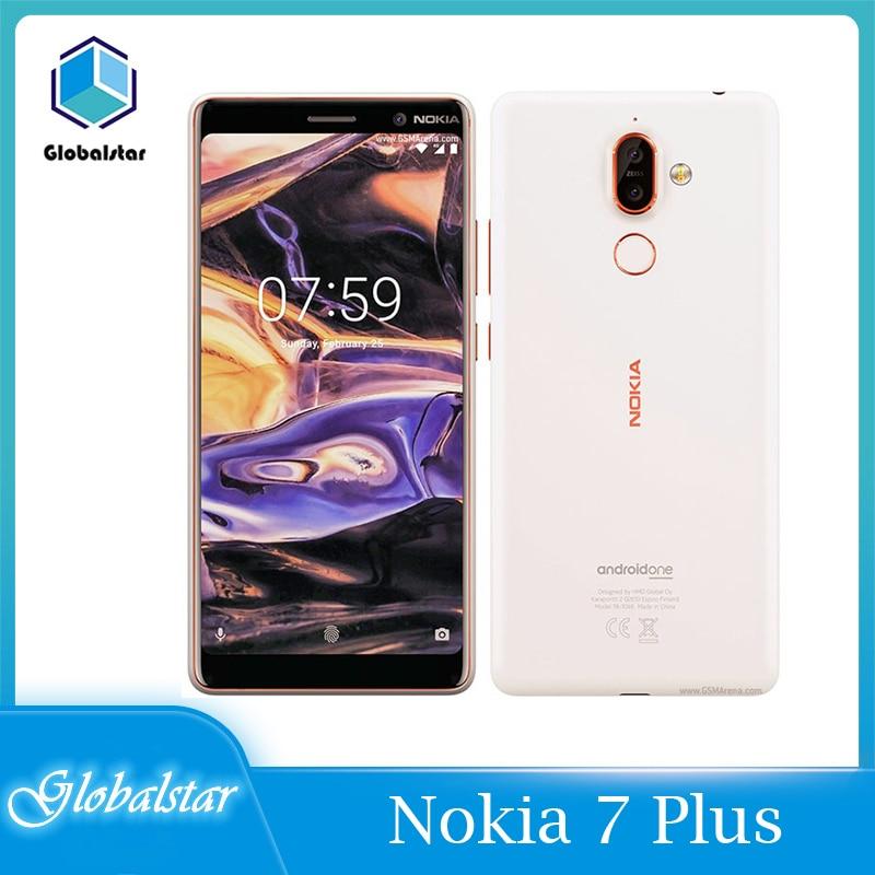 Перейти на Алиэкспресс и купить Nokia 7 Plus 7 P 7 Plus Восстановленный разблокированный оригинальный мобильный телефон 4 Гб + 64 Гб Qualcomm660 одиночный/двусимочный 6 дюймов полный Экран ...