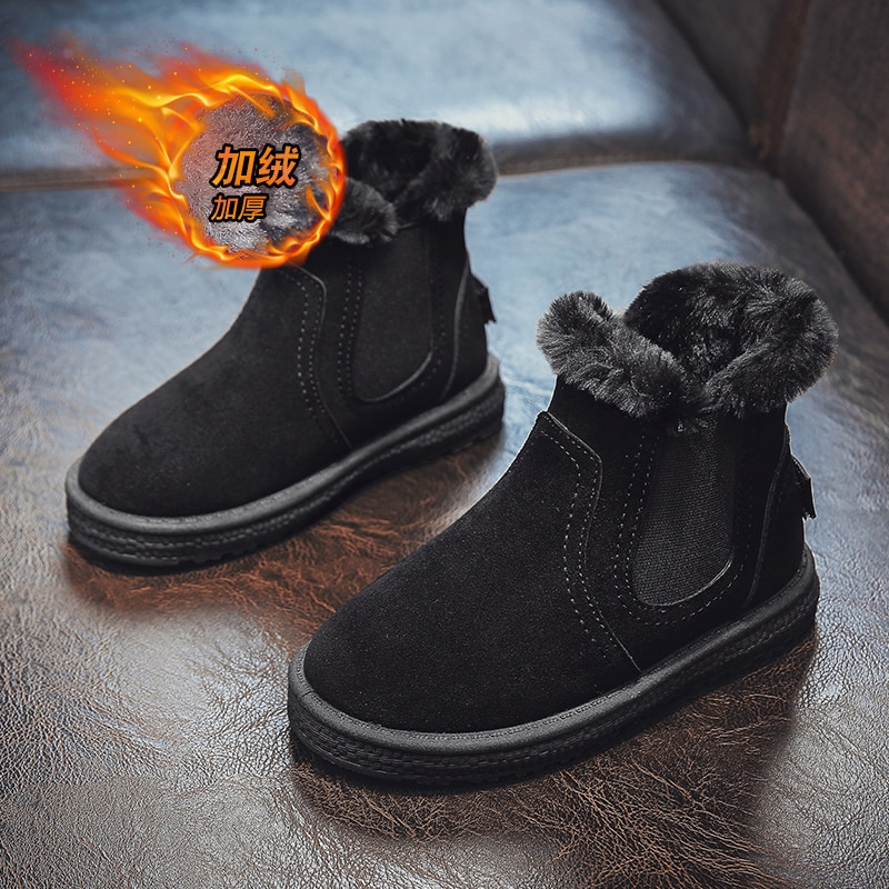 Children's Snow Boots for Boys and Girls Winter New Cute Kids Shoes Thicken Girls Boots Warm  Baby Shoes  Sneakers Girl Shoes