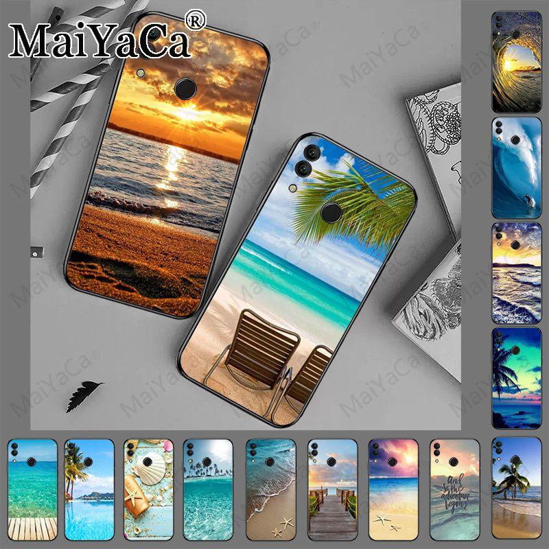 Las olas del mar de la playa de Isla del océano caja del teléfono para huawei p20pro p30pro p20lite p30lite amigo 20pro mate20 lite honor 8x coque