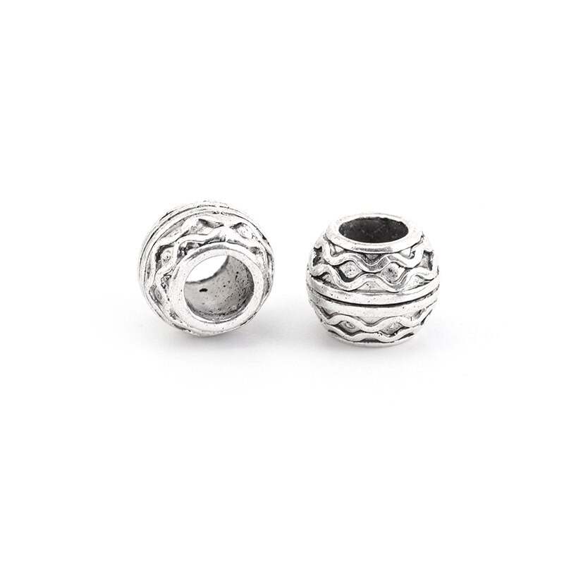 2 Alloy Big Hole Beads Loose Spacer Beads for Jewelry Making DIY Handmade Crafts Accessories Bracelet Charms Supplies  - buy with discount