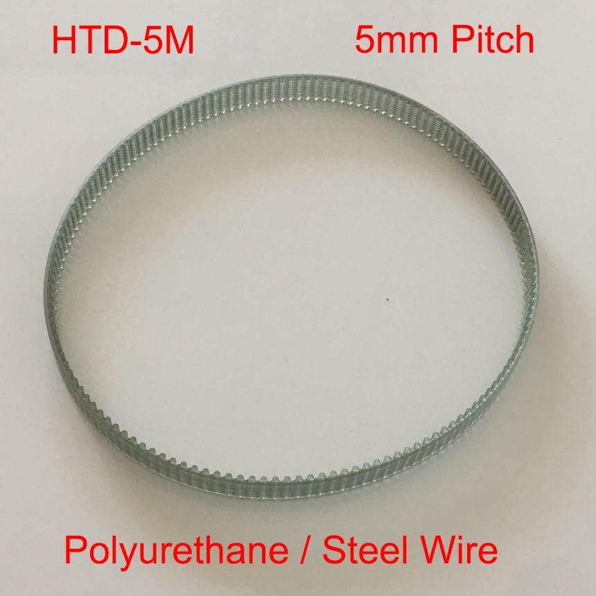Htd 5m 435 450 455 87 90 91 dente 10mm 15mm 18mm 20mm 25mm largura 5mm passo plutônio poliuretano aço fio sincronismo síncrono