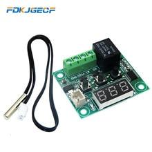 W1209 panneau de commande numérique 12V cc   Module de contrôle de la température du Thermostat froid 12V cc, panneau de contrôle activé/Off avec capteur
