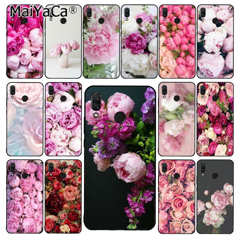 MaiYaCa flor peonía Rosa belleza fresca peonías funda de teléfono para Xiaomi Redmi8 4X 6A 9 ir Redmi 5 5Plus Note5 7 Note8pro 9 9pro
