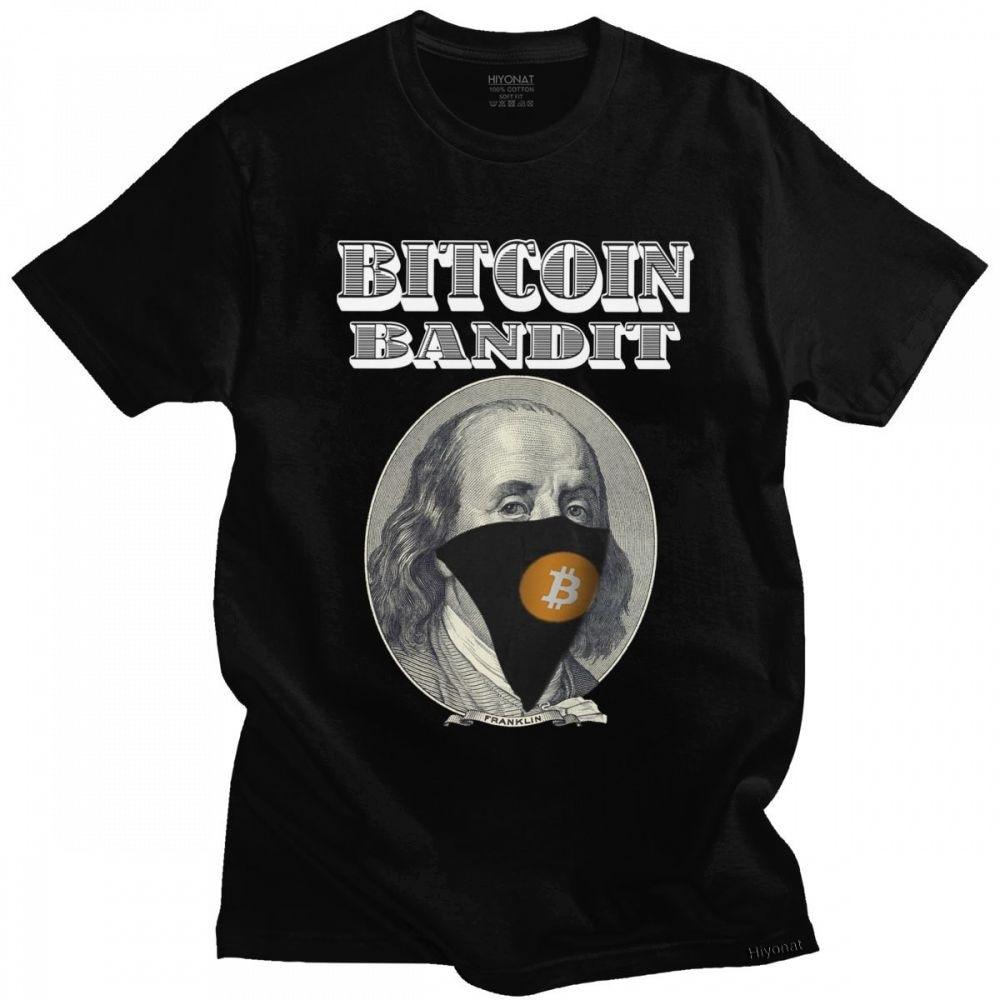 T-shirt à manches courtes en coton pour homme, Streetwear, décontracté, amusant, en forme de pièce de monnaie