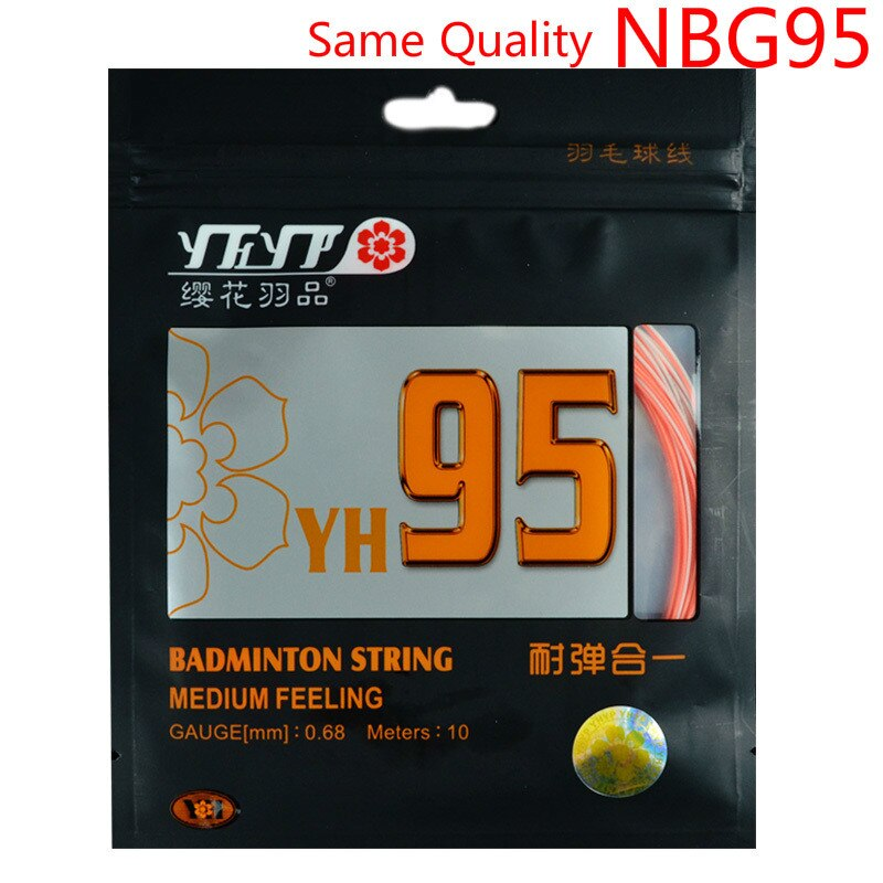 10 PCS Gleiche wie NBG95 Badminton Schläger String Medium Gefühl Hohe Widerstandsfähigkeit 0,68mm YH95 Schläger Linie L2092-10SPC