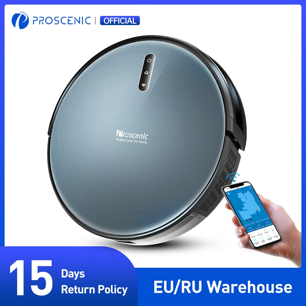 aliexpress.com - Proscenic 830P Robot Vacuum Cleaner, Wi-Fi and Alexa Control, with 350ML Water Tank, Efficient Cleaning and Mopping For Carpet