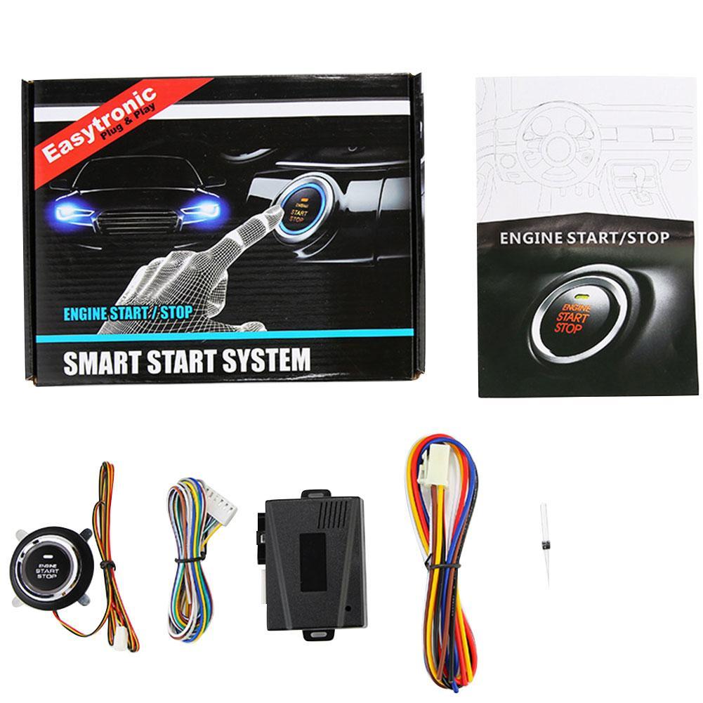 DC12V Keyless Start System Remote Control One Step Start Stop Car EngineButton Auto Ignition Starter