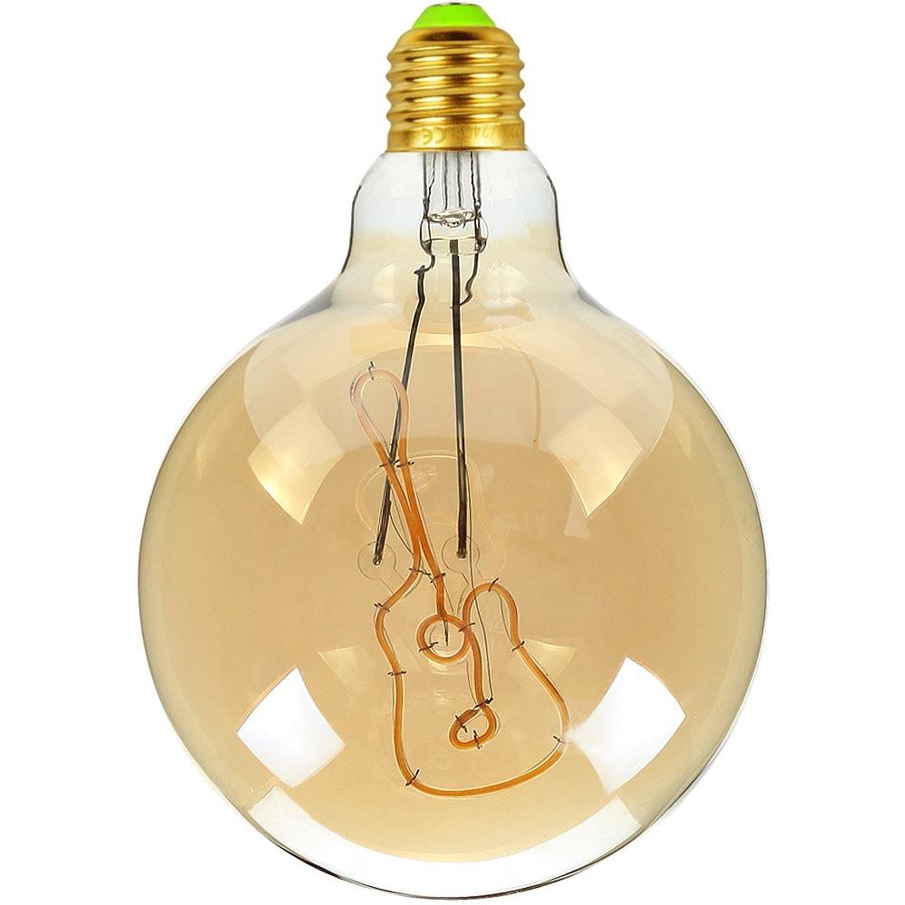 TIANFAN Led Bulb Vintage Light Bulb G125 Big Globe Alphabet Guitar Led 4W Non Dimmable Pendant Hanging Decorative Bulb 110V 220V