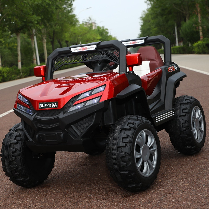 Kids Electric Cars Four-wheel Drive 0-6 Years Old Children RC Riding Toy Off-road Vehicle 12V Electr