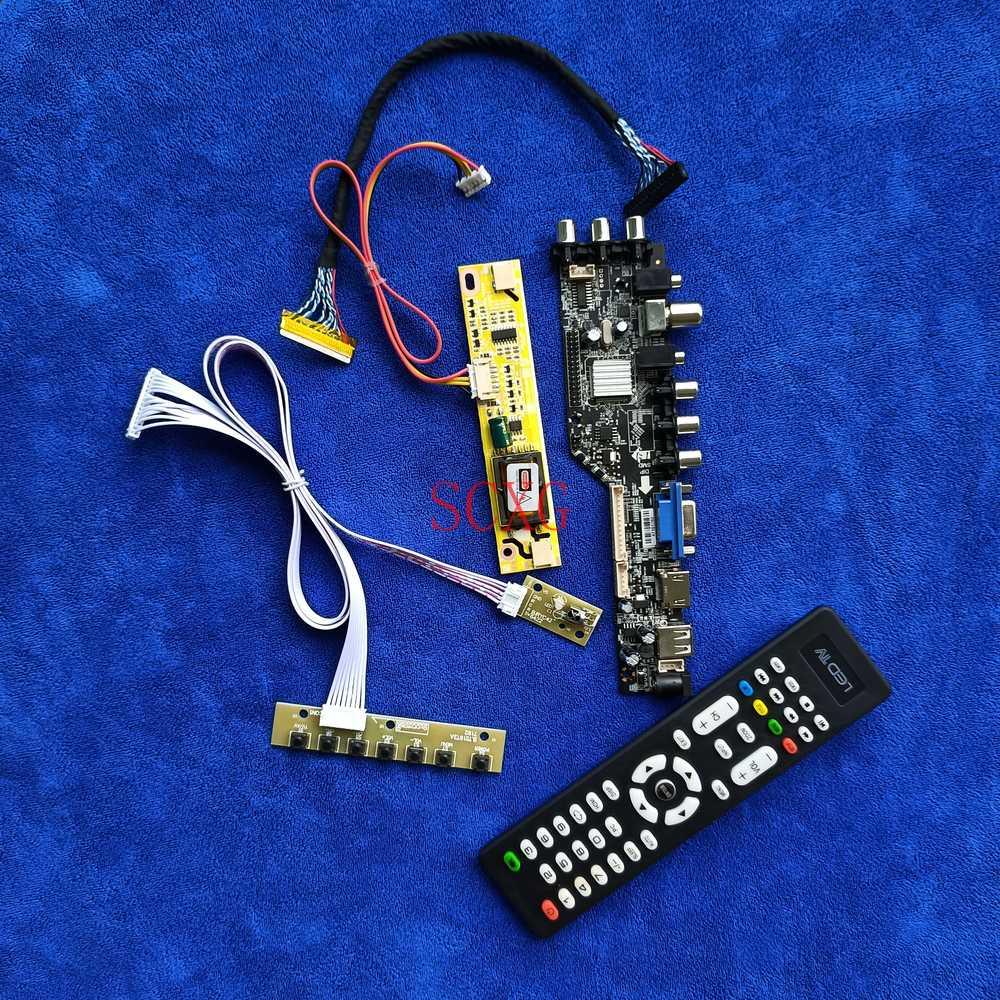 ل LM220WE1/LTM220MT05/M220Z1/MT220WW01 عدة DVB الرقمية 2CCFL 30 دبوس LVDS لوحة تحكم AV VGA USB HDMI متوافق 1680*1050