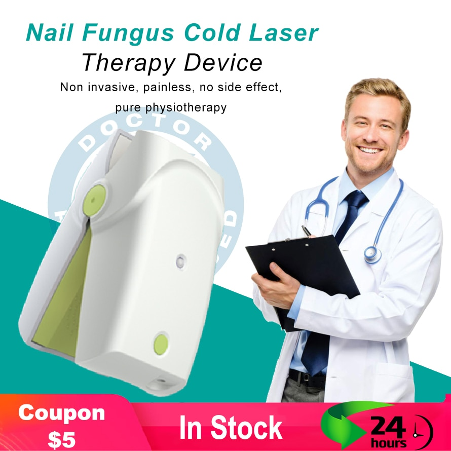 Portable Rechargeable Nail Fungus Laser Treatment Device Nail Infection Onychomycosis Cure Nail Fungal Infections Free Gift