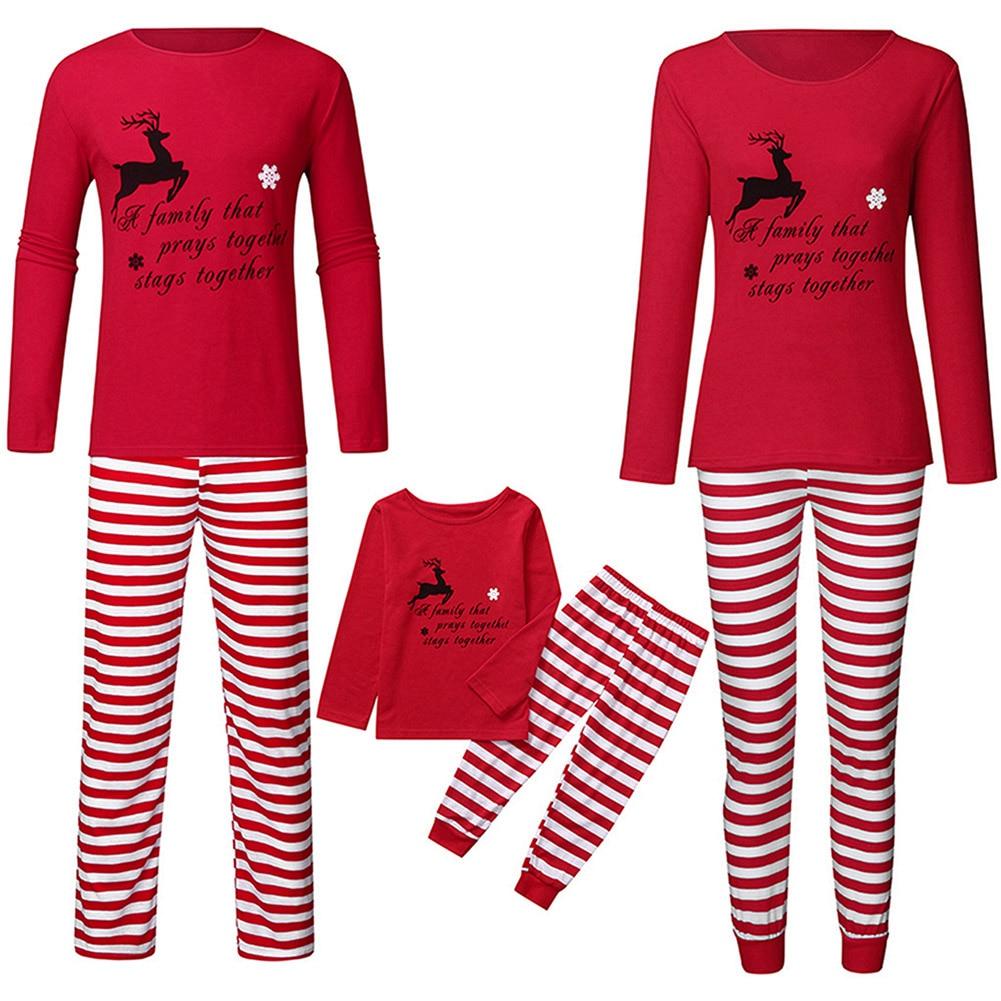 ملابس عائلية متطابقة لحفلات الكريسماس ، ملابس نوم للآباء والأطفال ، ملابس الأم والابن ، 2020