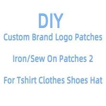 Ferro em remendos na marca de roupas logotipo remendos para roupas sapatos diy bordado remendo apliques jaquetas adesivo vestuário accesso