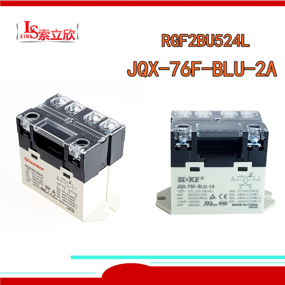 PCS Novo Relé RGF2BU524L 1 JQX-76F-BLU-2A JQX-76F-BLU 1A JQX-76F-BLU-2A-24VAC JQX 6F BLU 2A AC24V 24VDC 220VAC 400VAC