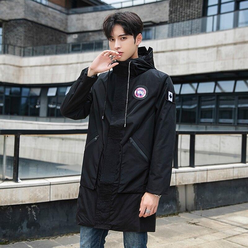 Gabardina de longitud completa para hombre, abrigo deportivo táctico para hombre, abrigos de invierno para hombre, Casaco Masculino, nuevo éxito de ventas GG50dy009