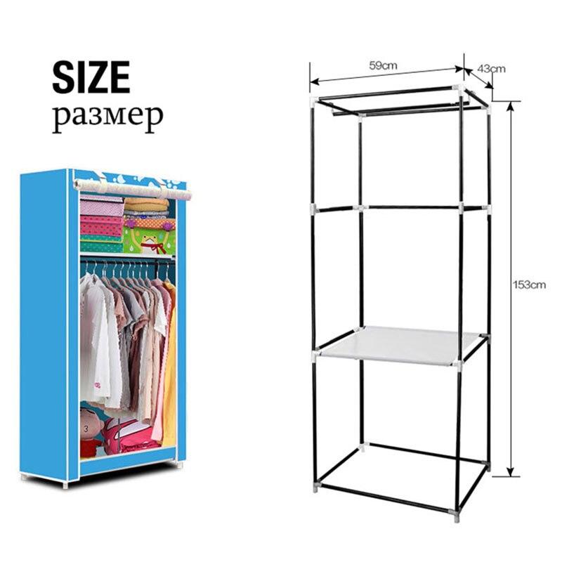 Simple pequeño armario plegable armario para almacenar las prendas dormitorio estudiantil armario económico armario de tela no tejida