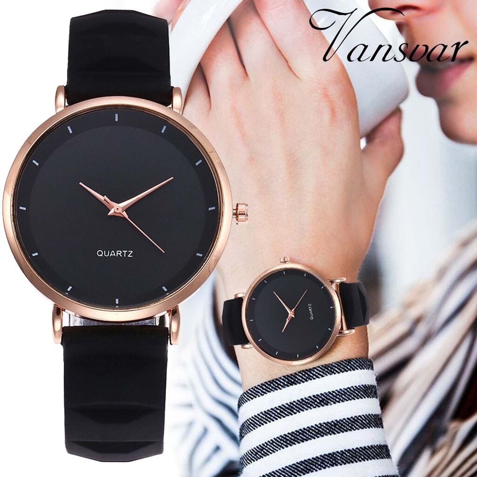 Round Dial Fashion Woman Watch Leather Strap Dial Women's Quartz Watch Gift Watch Часы Женс�