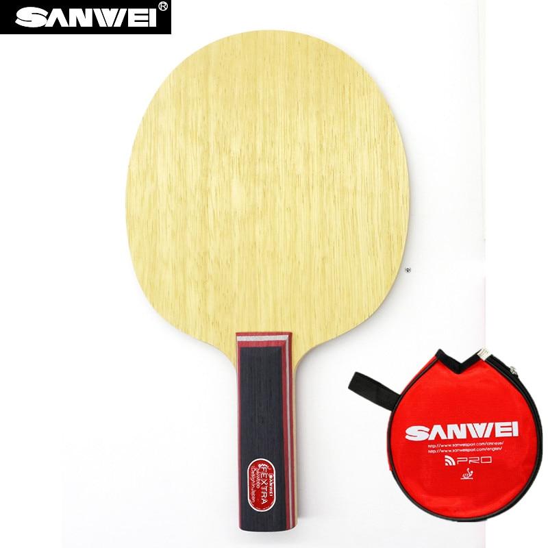 Sanwei FEXTRA 7 (Nordic VII) de tenis de mesa de hoja (de 7 capas de madera Japón tecnología STIGA Clipper CL estructura) raqueta de Ping Pong bate