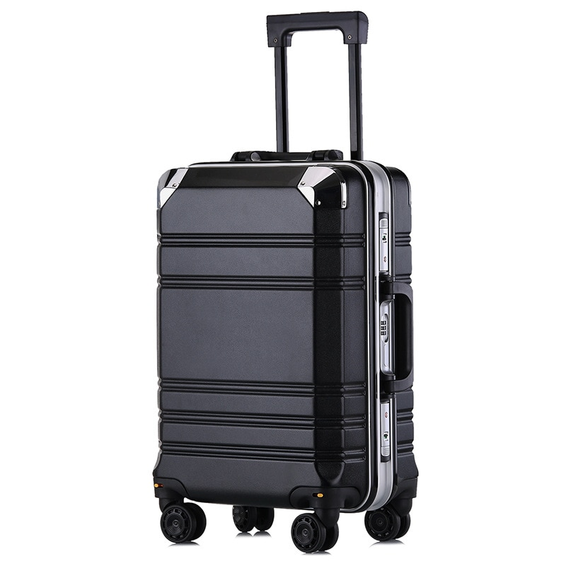 20' Aluminum-framed PC Luggage Case Business Men and Women Check-in Box Luggage for Travel Suitcase Burden Spinner Carry-ons