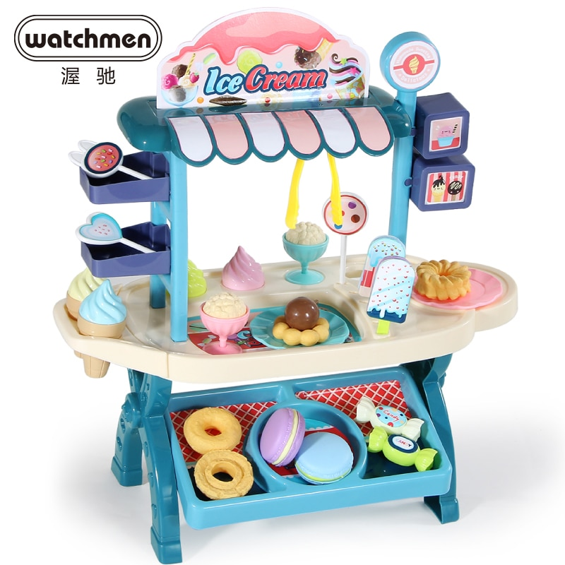 20 33 38cm simulation mini trolley girl candy car ice cream shop supermarket children play toy ice cream cart Funny Supermarket Shopping Pretend Play Kitchen Toy for Girls Children Educational Toys Ice Cream Cart  Desk Shop Store