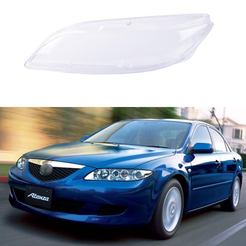 Farol do carro lente da lâmpada de vidro capa da lente do farol do automóvel capa da lâmpada abajur escudo brilhante para mazda 6 2003- 2008 acessórios do carro