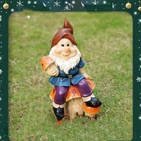 realistic resin gnome dwarfs garden decoration statue old man funny gnome miniature dwarf figurine for desk outdoor gard