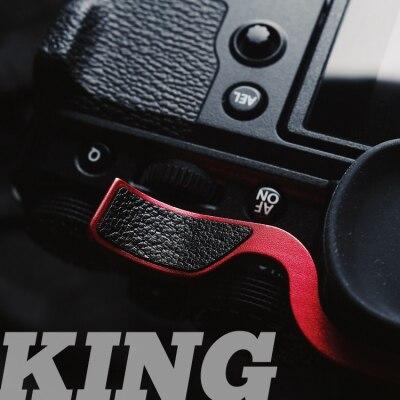 Metal sapato quente polegar-up hotshoe polegar up grip para fuji filme fuji X-T4 xt4 XT-4 xt 4 câmera aperto de mão com couro proteger