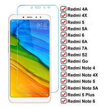 9D Full Screen Protective Glass On Redmi Note 4 4X 5 5A 6 Pro Glass For Xiaomi Redmi 4X 4A 5A 5 Plus 6 6A S2 Go 7A Tempered Film