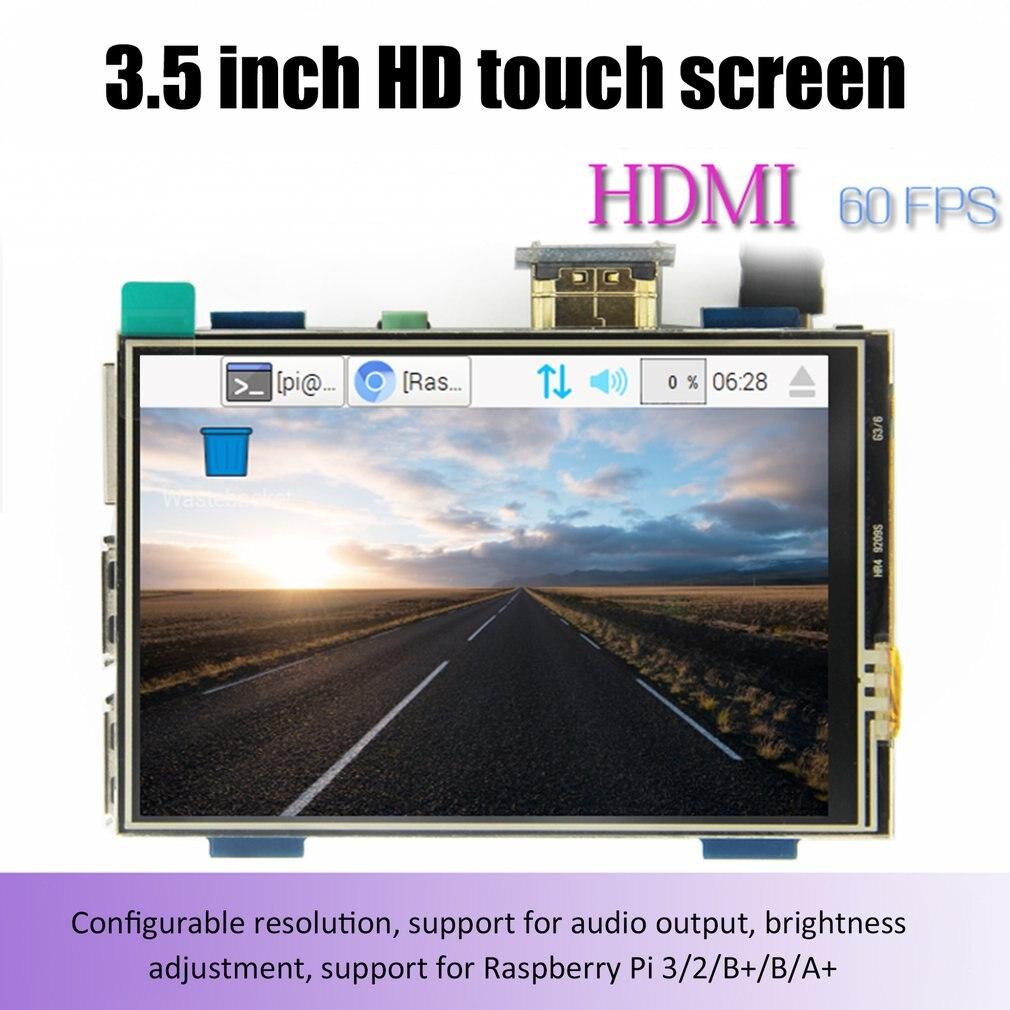Módulo lcd 3.5 polegada pi tft 3.5 polegada tela sensível ao toque resistive 3.5 polegada lcd escudo módulo hdmi interface para raspberry pi